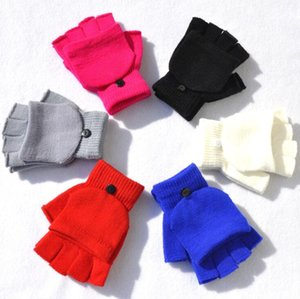 Guanti da guanti invernali Guanti per le donne uomini mezzo dito mano wroist warmer flip copertura ragazze ragazzi all'aperto caldo caldo di alta qualità regalo guanto femminile