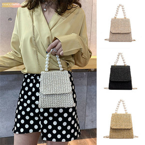 Noenname Null Women Summer Ladies Straw Rattan Shoulder Handbag Cover Fluffy Cross Body Bag