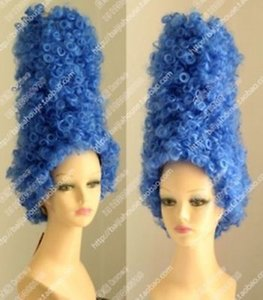 Envío gratis Marge Simpson Pantomime Dame Fancy Dress Ladies Tall Blue Beehive peluca