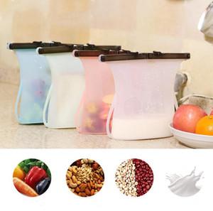 Bolsas de alimentos de silicona conservación de alimentos bolsa CookingPreservation sellado de contenedores de almacenamiento de alimentos frescos bolsas 1000ml fresco Almacenamiento Containe LSK89