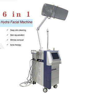 6 in 1 Vacuum Hydro Dermabrasion Face Cleansing Water Oxygen Jet Peel Machine Pore Cleaner Hydrafacial Hydra facial machine PDT LED