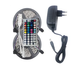 LED RGB Lights bande 5050 5 M 10M IP20 LED rgb bande conduit ruban flexible Mini IR contrôleur DC12V éclairage en stock Holiday