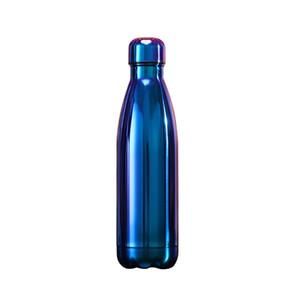 Fashionstainless Steel 500ml Cola Bottle Bouteille 17 oz à double paroi isolé UV galvanoplastie eau Grand Gym