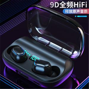 T11 TWS 무선 헤드폰 블루투스 5.0 인 이어 이어폰 3300mAh 충전 빈 스테레오 이어폰 IPX7 스포츠 방수 헤드셋