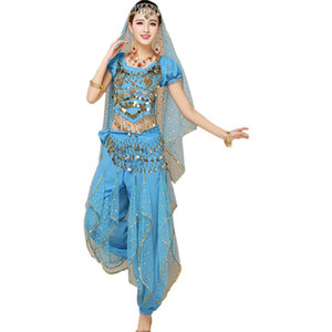 Belly Dance Clothes 2019 New Style  Dance Folk Costumes Stage Wear Performance Set - 4 Sets