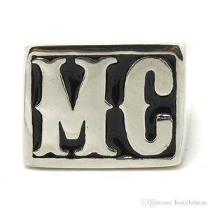 4шт / серия Размер 8-14 Motorbiker MC Прохладный Кольцо из нержавеющей стали 316L ювелирные изделия способа горячий продавая Байкер Стиль MC Ring