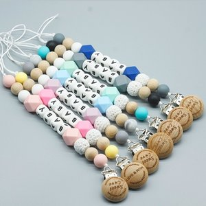 Nome Personalizado Silicone Baby Pacifier Clips Chain Nipple Pacifier Chain with Mouse Holder for Baby, Baby Shower Gift