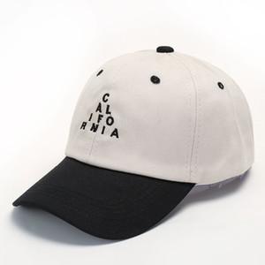 California Trucker Hat Vintage бейсболка Мода Письмо Треугольники Лоскутных цвета Пара Повседневные Регулируемые Caps