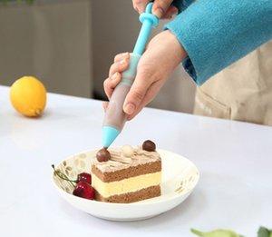4Nozzle торт украшение цветок ручка шоколадный крем джем выжатый пистолет шприц кондитерское печенье живопись написание выпечки инструмент силикон