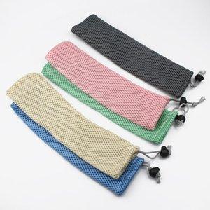 Acciaio inossidabile Straw sacchetto del metallo riutilizzabile Bere sacchetti sacchetto Straw Posate cucchiaio delle bacchette della forcella del cucchiaio Coltello bagagli TTA1989-1