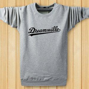 Hiphop Толстовки Мужчины O шеи Dreamwille Письма Дизайнерские Толстовки Топы Весна Harajuku пуловеры