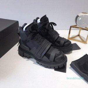 Tasarımcı Kadınlar Lüks Günlük Ayakkabılar Deri Sneakers Üçlü Platformu Ayakkabı Pembe Beyaz Patchwork Espadrilles Dantel-up Kanca Döngü Stil Z07