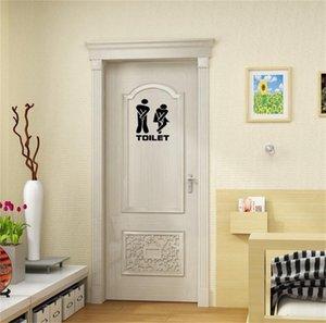 Mode DIY Siège De Toilette Autocollant Mural Stickers Vinyle Art Papier Peint Amovible Salle De Bains Décor Wall Paper Stickers