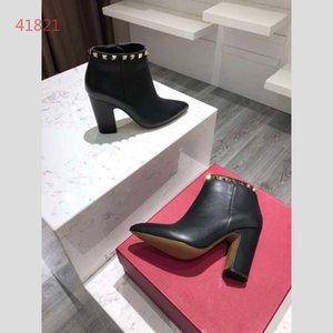 Bottes d'hiver de designer bottes de cheville Western Cowboy 100% cuir véritable bottes bout pointu chaussures de luxe pour femmes avec boîte TAILLE 35-40 a1