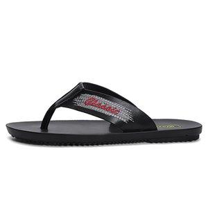 Flip 2020 neue Lederschuhe Men Outdoor Schuhe männlich Strand Flops Sommer Slides Lässige Sandale Reisen Wandern Slippers