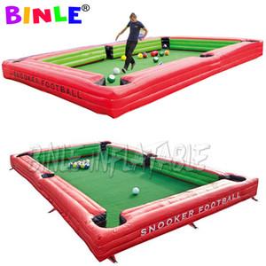 Divertido juego de mesa de billar deporte inflable de fútbol billar, mesa de billar de fútbol para el parque de atracciones al aire libre