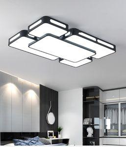 Salon Yatak odası Celling Lambalar Siyah / Beyaz İç Aydınlatma AC90-260V Lampara de techo LLFA İçin Basit Modern LED Tavan Işıklar