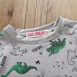 2pcs Baby Boys Clothes Set Autumn Long Sleeve T-Shirt For Boys Dinosaur Tops Long Pants Baby Boys Outfits Newborn Set Tracksuits