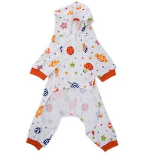 New Dog Pajamas High Collar Love Color Mushroom Pattern Cotton Pajamas Four Feet Pet Clothes Comfortable Sleep Fashion Skin