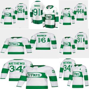 2019 Toronto St. Pats Toronto Maple Leafs Jersey 16 Mitchell Marner 44 Morgan Rielly 29 William Nylander 31 Frederik Andersen Hockey Jerseys