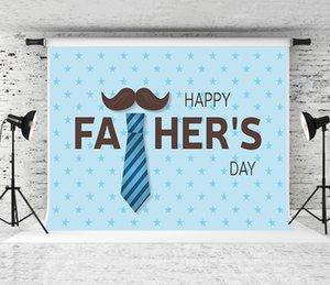 Rêve 7x5ft jour de père heureux Backdrop Blue Stars Décor Photographie Fond pour les pères de fête de vacances Fond Shoot Studio Prop