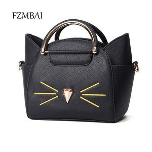 Fzmbai Lovely Small Pu Alette in pelle Borsa Moda Donna Carino Borsa a tracolla Donna Cat Messenger Bag Bolsa Feminina Y19062003