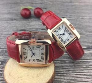 Liebhaber Luxusuhren Herren- und Damenuhren 31mm Herren- und 25mm Damenuhr Durchmesser Zifferblatt Quarzwerk Einfache Lederband Paar Armbanduhr