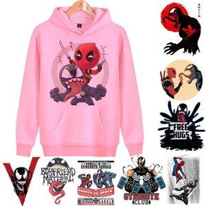 Cool Venom 하라주쿠 까마귀 남성 / 여성 영화 만화 인쇄 후드 티 스웨터 롱 슬리브 힙합 Streetwear 탑 남성 / 여성