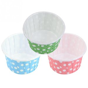 Zerodis 100PCS Mini Cupcake Liners Paper Round Cake  Cups Muffin Cases Wedding Home Party Christmas