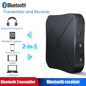 Vehemo Bluetooth V4.2 Moda coche FM de audio estéreo Transmitte Música de auriculares de manos libres Altavoces Receptor de TV Audio Adapter