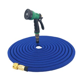 Garden Hose 25FT-100FT Lightweight Expandable Magic Hose flexible Rubber Multi-Function Nozzle Set For Garden Watering Car