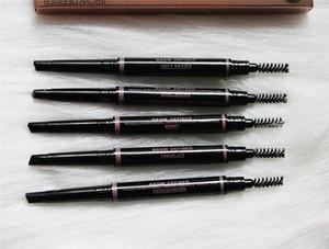 5Colors TRUCCO doppio Eyebrow Pencil BROW DEFINER CRAYON EBONY SOFT marrone scuro Castano medio Castano CIOCCOLATO trasporto 120