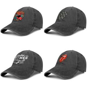 Rolling Stone Stencil Zunge der Männer und die Frauen Trucker-Denim-Kappe kühle Designer individueller personalisedcool Vintage stylishcustom Hüte Dice