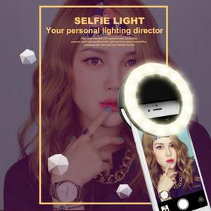 Akıllı telefonlar için şarj edilebilir selfie'si halka ışık Klip LED selfie'si flaş ışığı ayarlanabilir lamba selife dolgu ışık