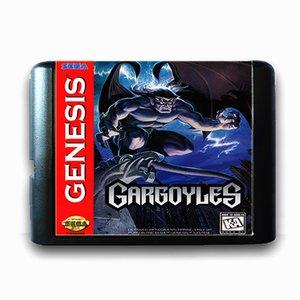 Genesis ABD PAL Sürüm Video Oyunu Konsolu için Mega Drive için 16 bit Sega MD Oyun Kartı için Gargoyles