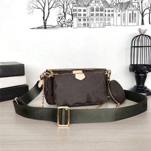 MULTI pochette bolsas crossbody Brown 3pcs flor fixa sacos mulheres bolsas bolsas de couro reais sacos de ombro tote bolsas carteira