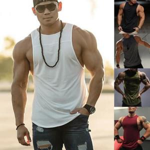 2019 новый мужской бодибилдинг фитнес-жилет лето хлопок мускулатура спортивные пота абсорбирующие футболка майка мужская мода жилет топ