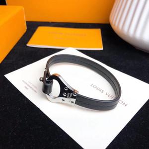 Luxuriöse Qualität Neues Design Top Qualität Punkarmband mit echtem Leder für Mann Hochzeit Schmuck Geschenk-freies Verschiffen PS6292