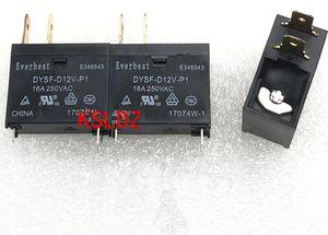 Free shipping lot (5 pieces lot) 100%Original New DYSF-12VDC-P1 16A250VAC 3PINS 12V DC12V 12VDC Power relay
