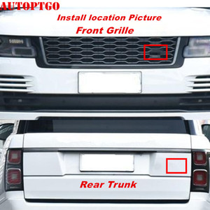 Черный или зеленый овальный эмблема Логотип Знак Рамка Наклейка для Range Rover Evoque Discovery Sport Передняя решетка / Задний Магистральные