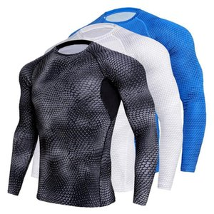 Compression stretch sports men's shirts quick-drying men's running shoes T-shirt gym fitness clothes jacket sweater clothing