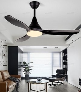 48 inch ceiling fan fans with lights remote control ceeling ventilator lamp bedroom decor modern Silent Motor Home Fixture blade LLFA