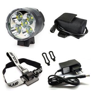 Laterne Xm-l 5x T6 Fahrradscheinwerfer 7000 Lumen Led Fahrrad Licht Lampe Scheinwerfer 8.4v Ladegerät + 9600mah Batteriepack C19041301