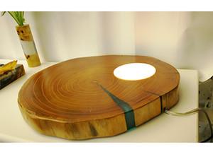 Noel için toptan yeni led ahşap lamba epoksi reçine ışık zemin aydınlatma sıcak ortam gece uzay rahat ev mobilyası