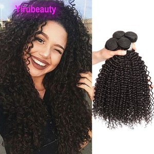 Malaysian Human Hair Virgin Hair 10 Bundles Kinky Curly Cheap Double Wefts Kinky Curly Yirubeauty 8-28inch Weaves Ten Pcs