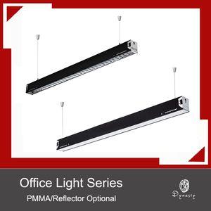 Le luci d'attaccatura moderne semplici dell'ufficio LED rettangolo di alluminio DIY si accendono le luci del pendente che progettano il corridoio di conferenza che accende il trasporto libero