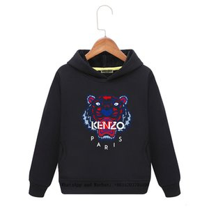 Kids Tiger Hoodies Autumn Leisure Time Sweater Long Sleeves Belt Cap Head Color Pure Cotton Loose Coat Blouses cartoon 12128