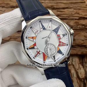 YENI Amiral'S Kupası Legend 42 A395 / 02983-395.101.20 / OF02 AA12 Otomatik Erkek İzle beyaz dial deri Kayış Gents Yüksek kalite yeni saatler