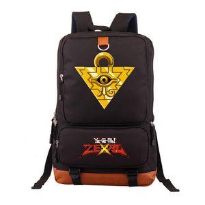 Дуэль Монстры Yu-Gi-Oh! Черный свет рюкзак школа Книга сумка Luminous Сумка для ноутбука подарков