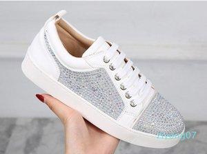 Кружевная Дизайнерская обувь Low Cut Шипы Квартиры для мужчин Женщин кожи Suedue Red Bottoms кроссовки дизайнер обуви 35-46 Z07